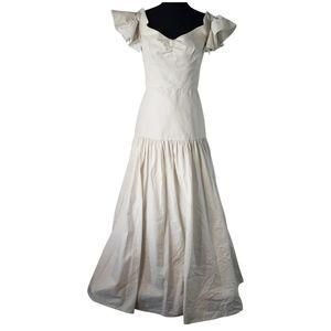 Rebecca Taylor White Linen Gown 8